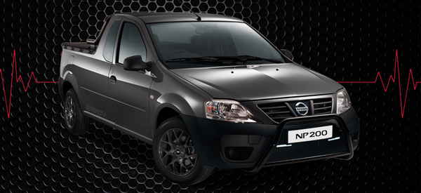 The Nissan NP200 Stealth with a gloss-finish nudge bar and colour coded radiator grille