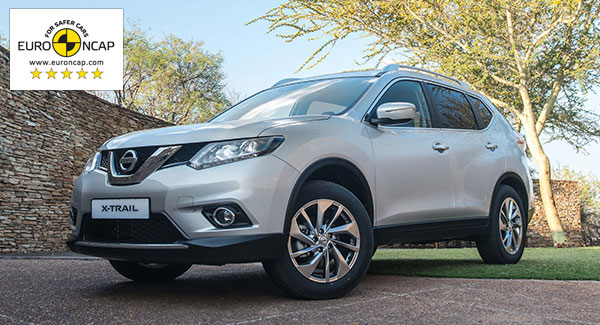 Nissan X-Trail Receives 5 Star Safety Rating