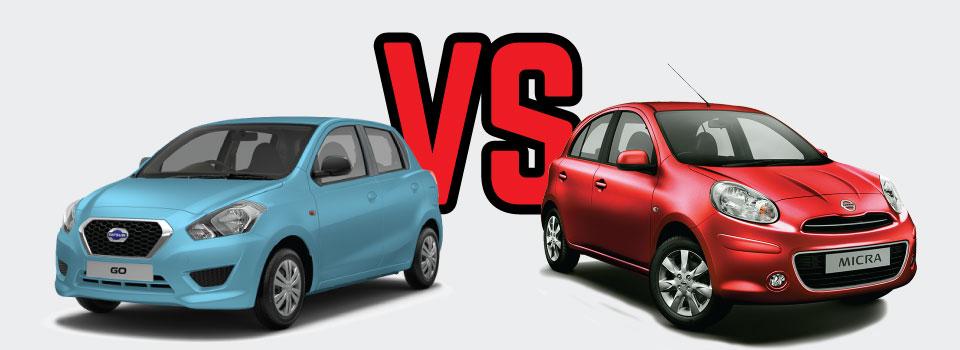 Datsun Go Vs Nissan Micra Vehicle Comparison