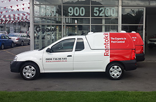 Rentokil's fleet of Nissan NP200 bakkies